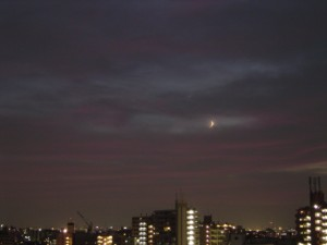 2010年9月11日 月と金星(2)
